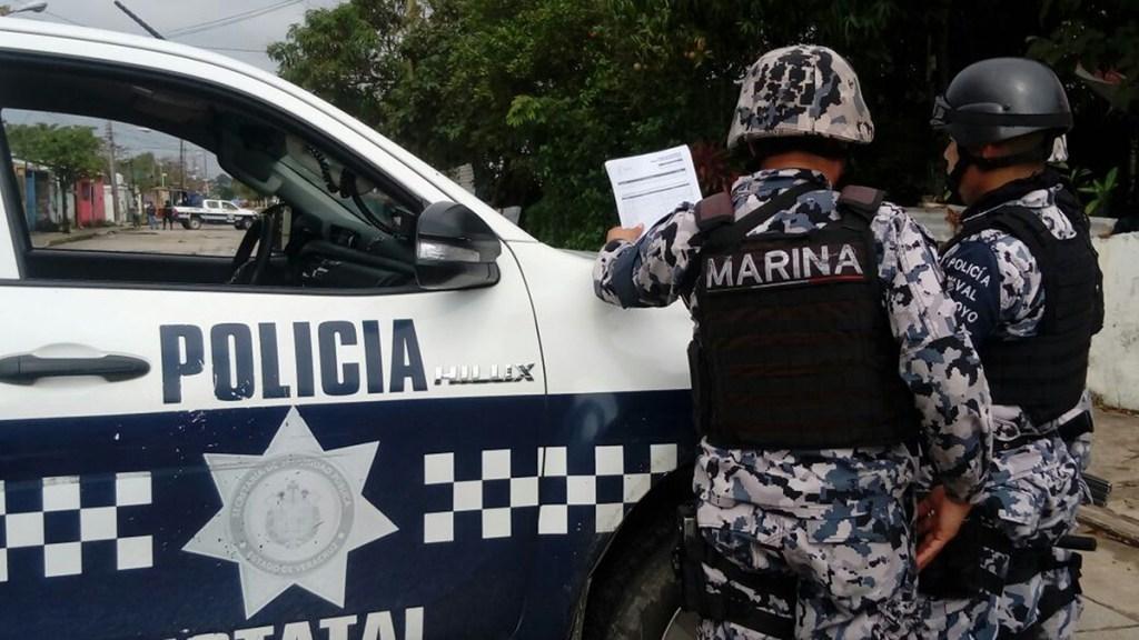 Suman 103 mil 505 homicidios dolosos en lo que va del sexenio - Miembros de la Fuerza Civil, la Guardia Nacional y del Ejército en Veracruz. Foto de EFE