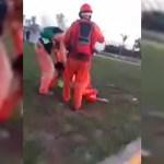 "#Video Hieren con bala de goma a trabajador de Dos Bocas; ""Voy a perder mi ojo"", afirma"