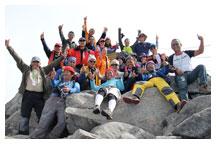 The whole Mt. kinabalu team