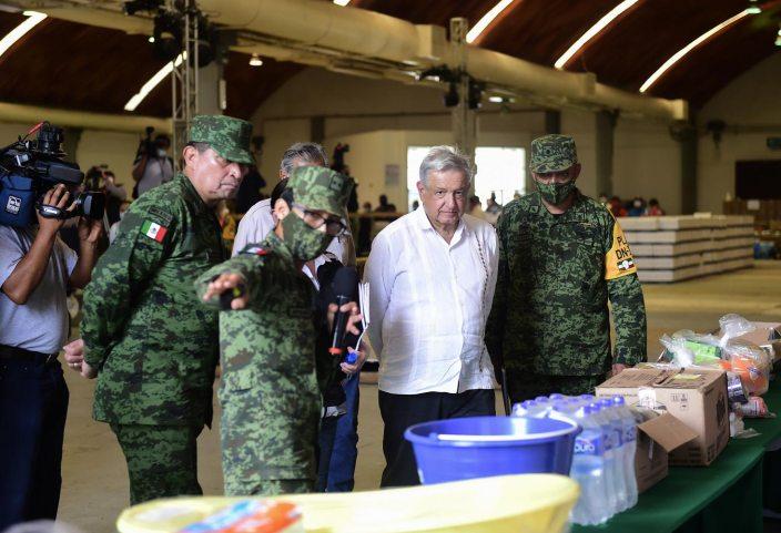 14 11 2020 CENTRO DE ACOPIO VILLAHERMOSA TABASCO FOTO 01 - Presidente supervisa en Tabasco atención a damnificados – AMLO #AMLO