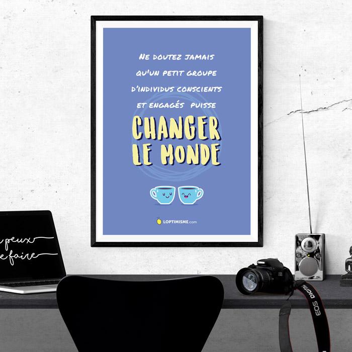 affiche A3 Changer le monde