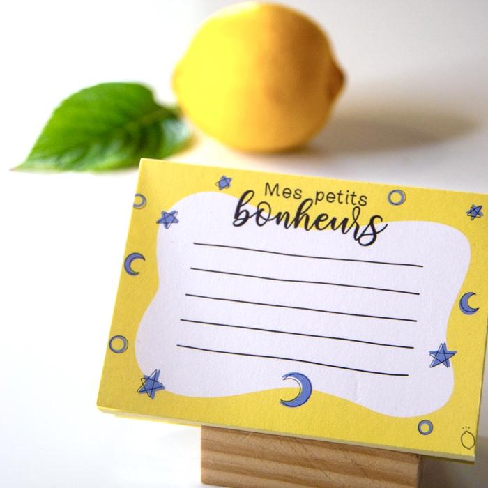 mini bloc-notes jaune