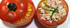 Cocina para vagonetas: tomates rellenos fríos