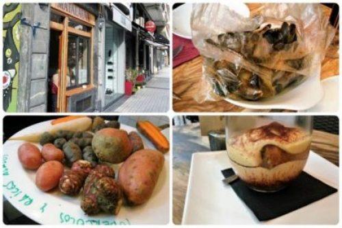 Fachada y distintos platos de Matalauva (fotos: Cuchillo)
