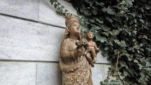 La virgen de Lorea, en la bodega del mismo nombre (foto: Cuchillo)