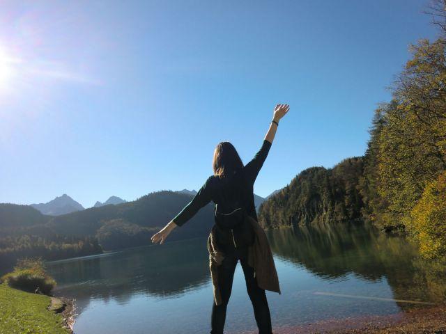 Yo en el lago Alpsee