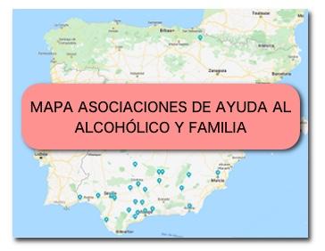 Mapa Asociaciones de ayuda al alcohólico y familia.