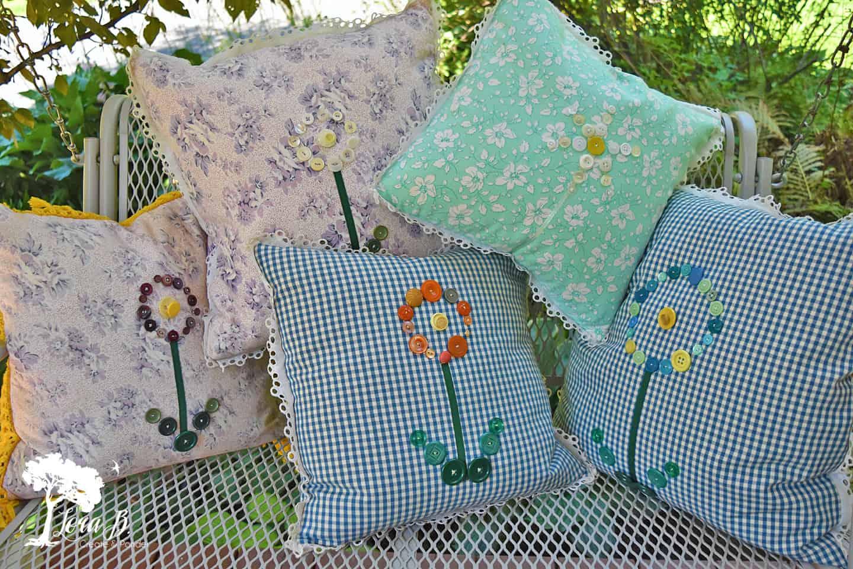Vintage button pillows