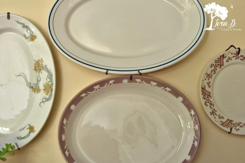 Vintage restaurant-ware platters