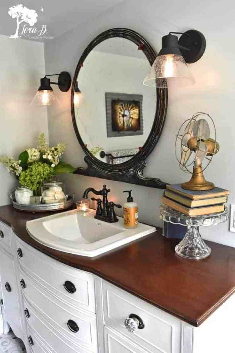 remodeled vintage bathroom