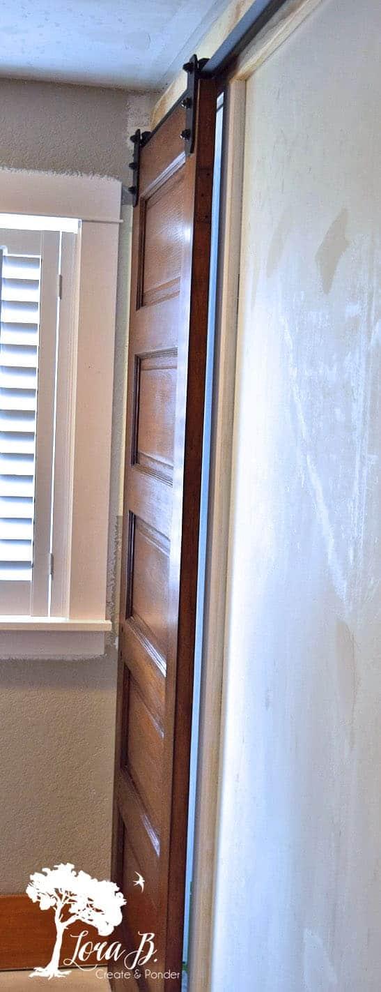 vintage door with slider hardware