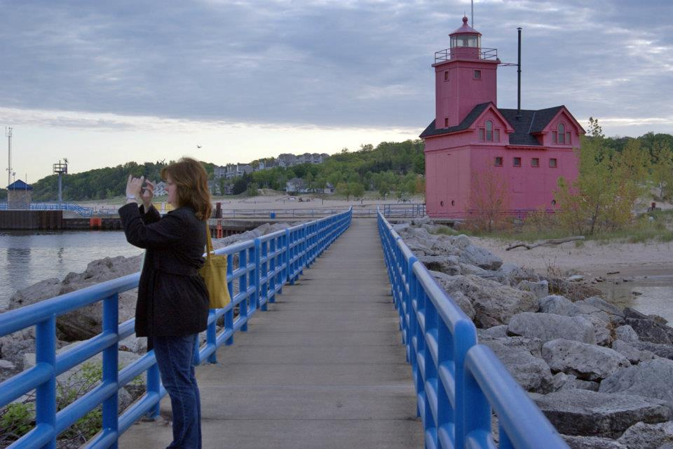 Yes, I took a picture of the lighthouse too. (Photo by Tyra Baumler, Tessera Photos)