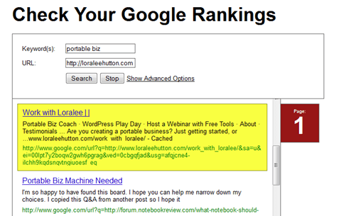 Are your clients finding you in Google? and other geeky tidbits