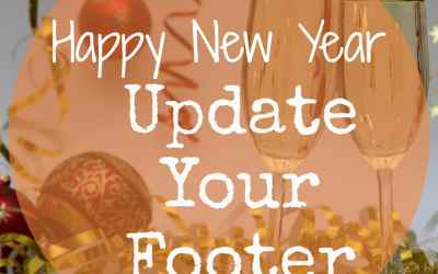 How to update the current year in the footer of your website