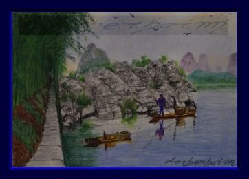 River bank, Guilin, China