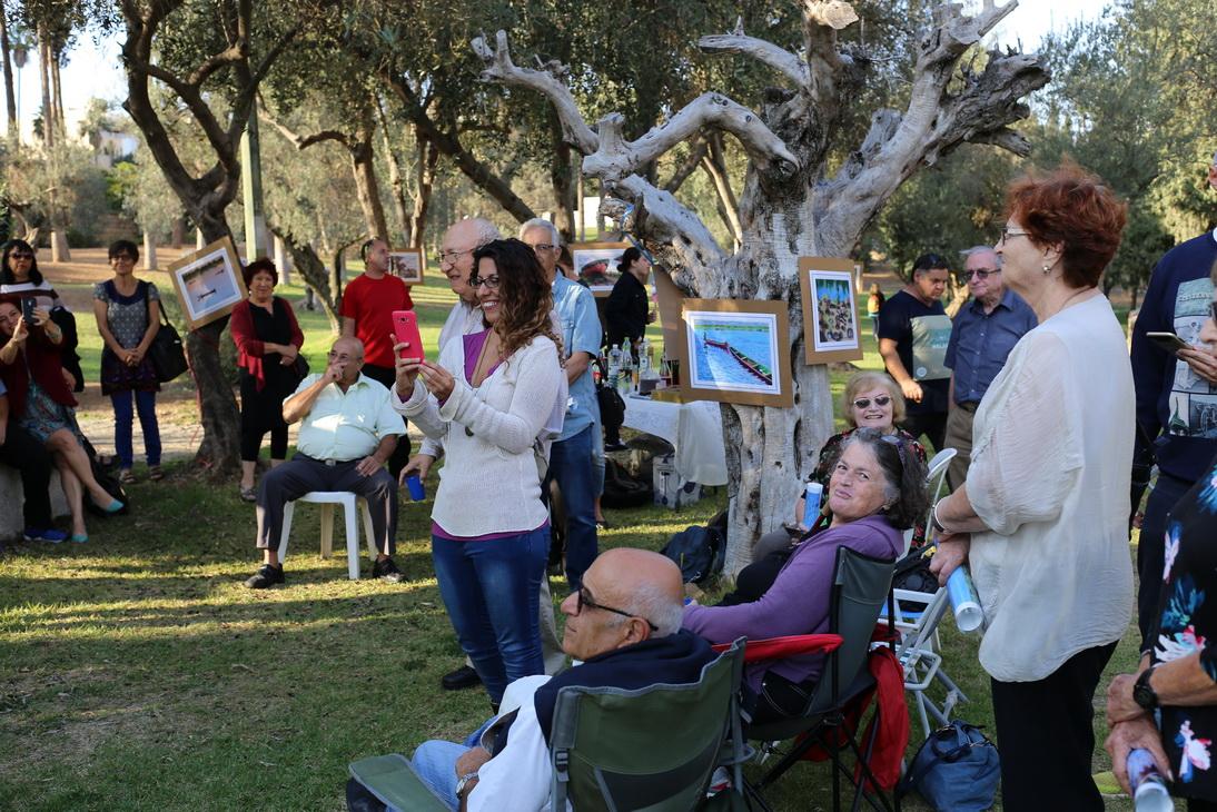 Lorberboim Soft Pastel paintings Exhibition on nature site. Jerusalem, Israel.