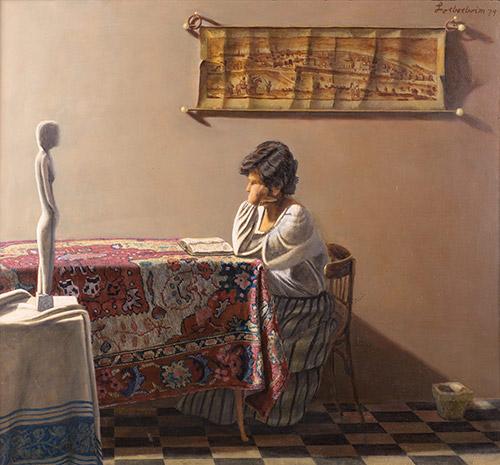 Shula, Lorberboim oil Painting on canvas.