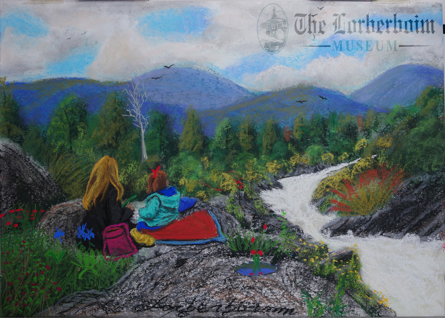 Lorberboim shoots over troubled waters. Lorberboim Soft Pastel Painting