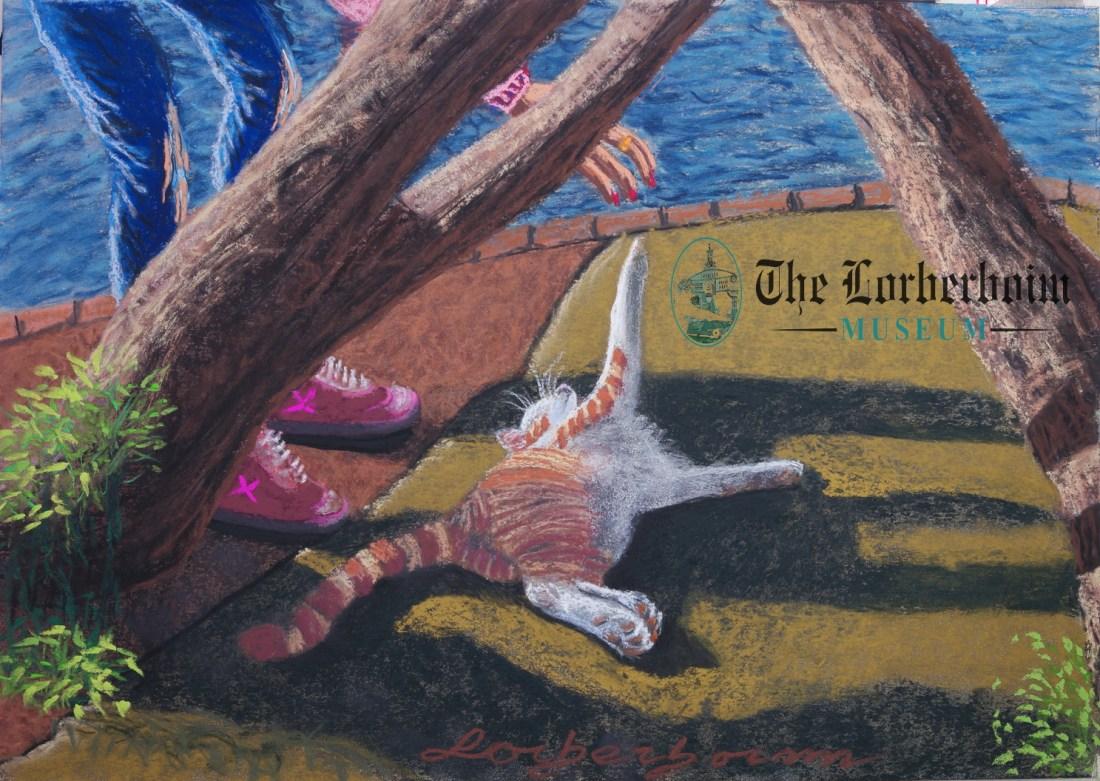 Cat and god, Museum, Lorberboim, Tlmuseum.com, artnot4sale, Lorberboim.com, Lorberboim Soft Pastel Painting,