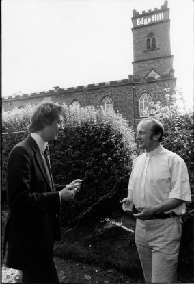 1982 With the Reverend Alan Godson, Vicar of S.Mary's Edge Hill-35