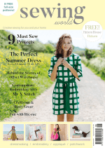 Sewing World magazine cover august 2017