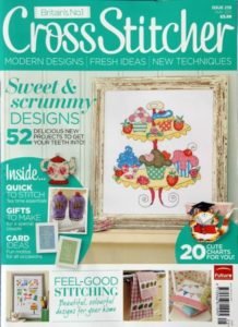 cross stitcher magazine cover may 2011 featuring Lord Libidan (source: crossstitchermag.co.uk)