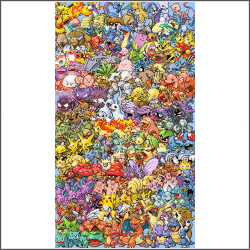 free epic Pokemon generation 1 Cross Stitch pattern