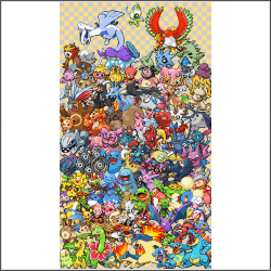 free epic Pokemon generation 2 Cross Stitch pattern