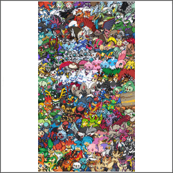 free epic Pokemon generation 5 Cross Stitch pattern