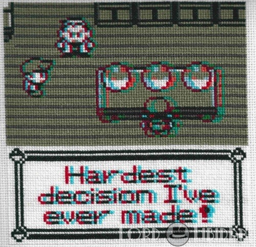 3D Pokemon Choice Quote Cross Stitch by Lord Libidan