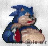 Fat Sonic Cross Stitch