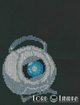 Portal Wheatley Core Cross Stitch
