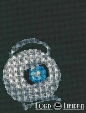 Portal Wheatley Core Cross Stitch