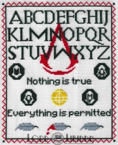 Assassins Creed Sampler Cross Stitch