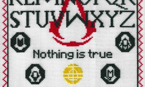 Assassins Creed Sampler Cross Stitch by Lord Libidan