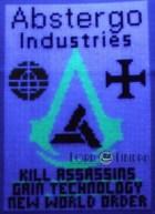 Abstergo Poster - Glow In The Dark Cross Stitch