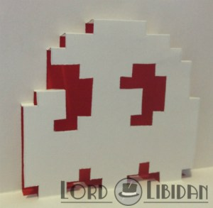 Pop Up Pacman Ghost Card