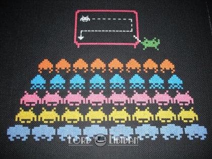 Space Invader School Cross Stitch