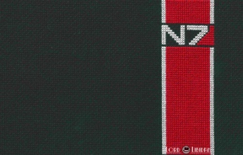 Mass Effect N7 Cross Stitch by Lord Libidan