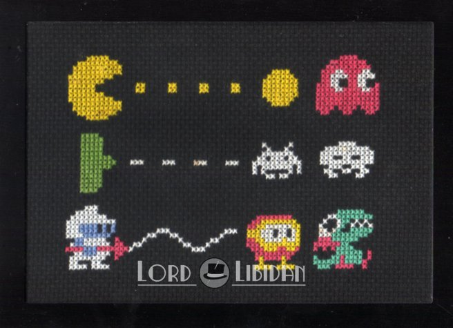 Retro Video Game Trio Cross Stitch by Lord Libidan