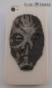 Skyrim Dragon Priest Mask Iphone Case Cross Stitch