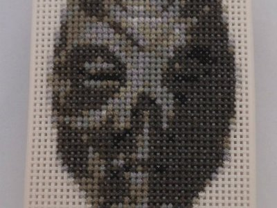 Skyrim Dragon Priest Mask Iphone Case Cross Stitch by Lord Libidan