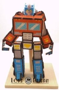 Optimus Transformer – Robot 3D Cross Stitch