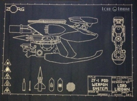 ZF-1 Blueprint Embroidery