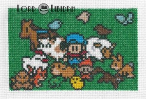 Harvest Moon Family Cross Stitch by Lord Libidan