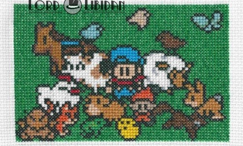 Harvest Moon Family Cross Stitch