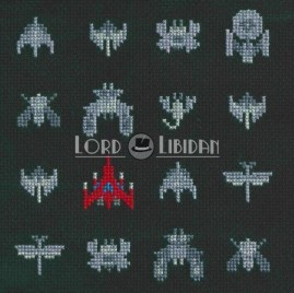Galaga Ships Cross Stitch