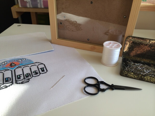 how to frame cross stitch what you need