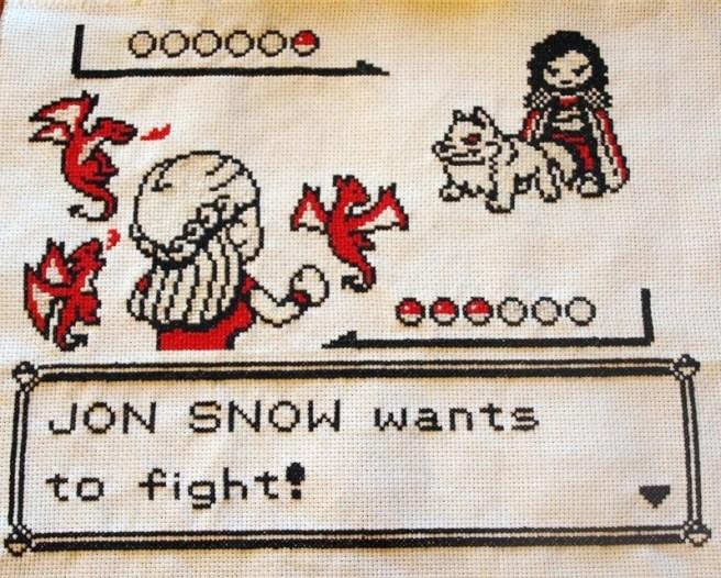 Game of Thrones Pokemon Cross Stitch by Beki710 (source: mrxstitch.com)