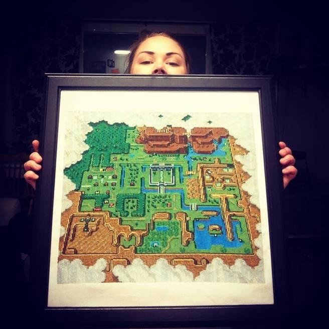 legend of zelda map cross stitch